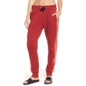 Ivy Park Sz L Velvet Side Stripe Jogger Sweatpants